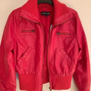 Forever 21 Faux Leather RED Jacket